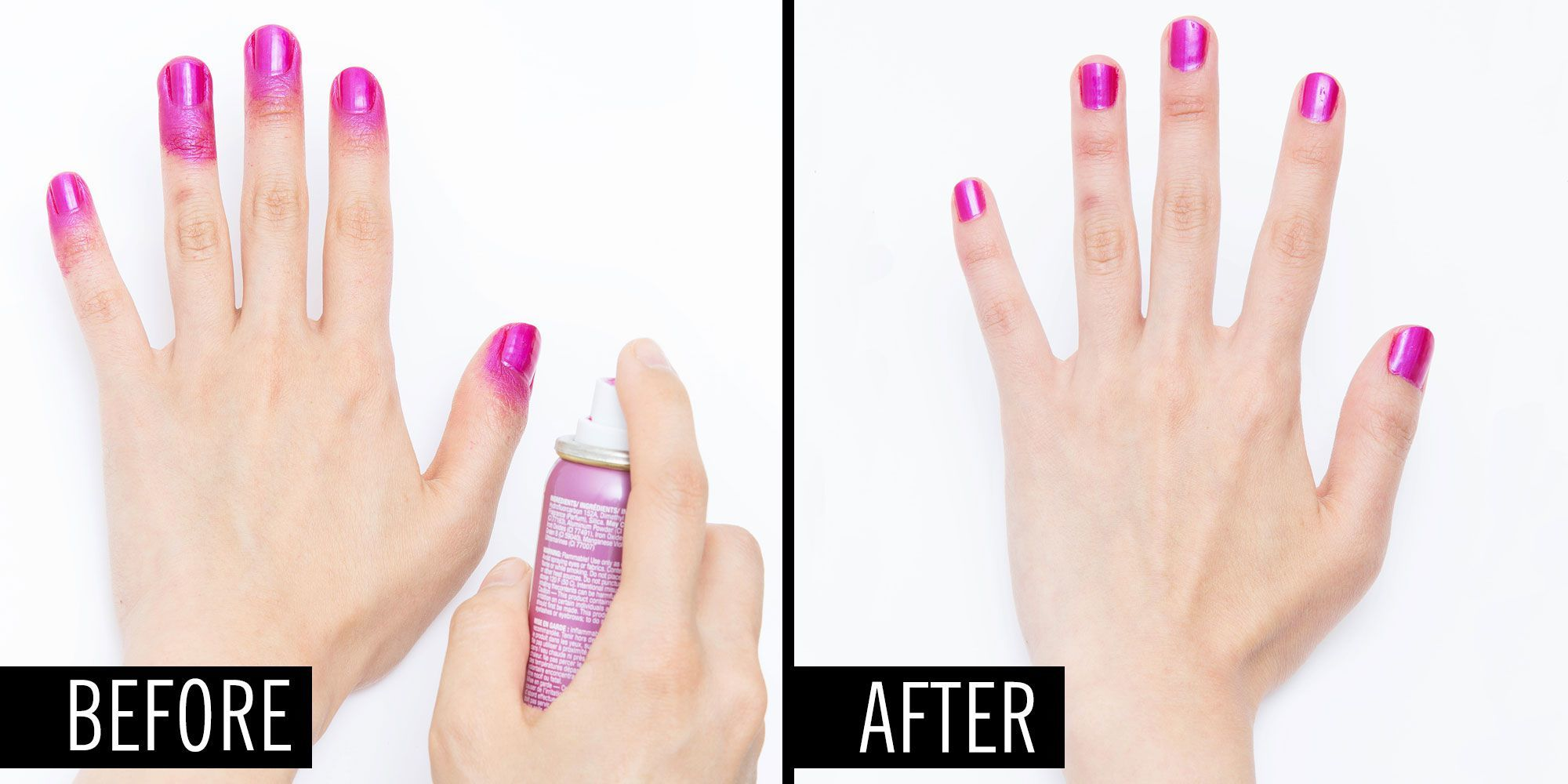 pray nail polish before after
