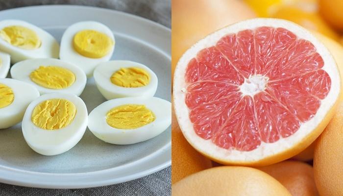 Egg with Grapefruit and Lemon