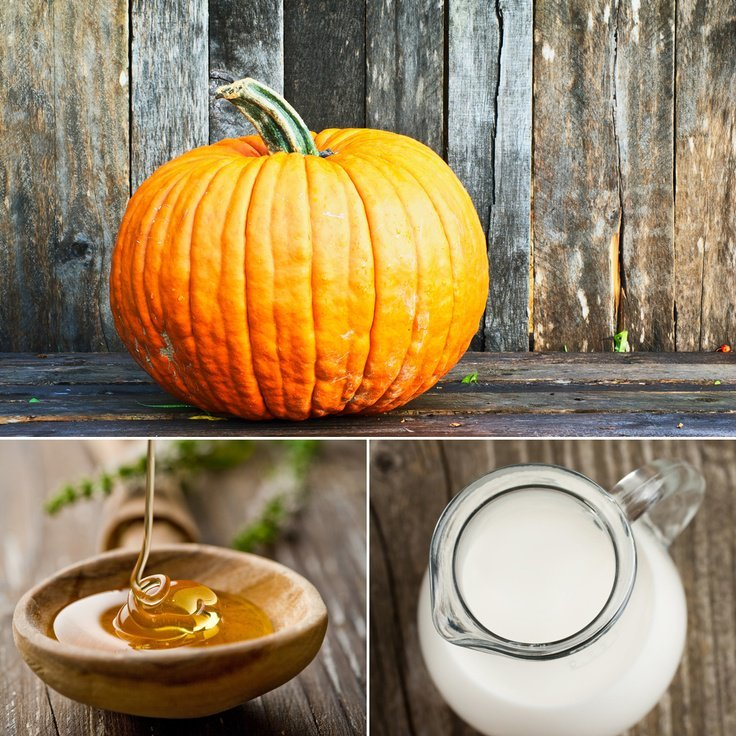 Pumpkin with honey and milk