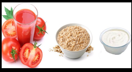Tomato juice with Gram and Wheat Flour