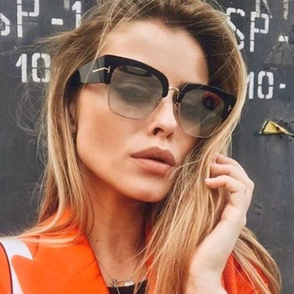 Semi Rimless Sunglasses For Women